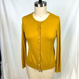 Ann Taylor light wool blend mustard cardigan